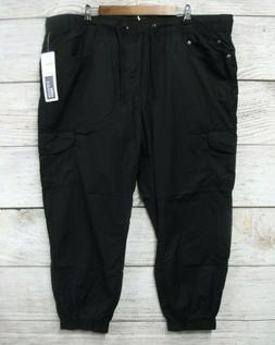 IZOD Jogger Mens 42X28 Black Regular Fit Jersey Lined Cargo