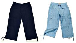 Capri Pants Pegasus Juniors Womens Cargo Pants 100% Cotton