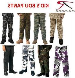 Kids BDU Cargo Fatigue Pants Kids Camouflage Pants Military