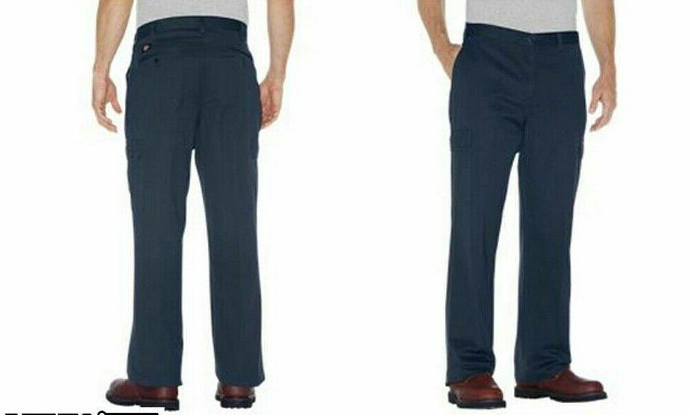 1946 Dickies Loose Fit Cotton Cargo Pants 23214 Sz 46x32 Nav