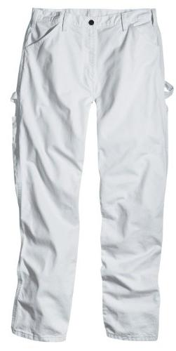 Dickies Men's Painter's Utility Pant Relaxed Fit, White, 42x