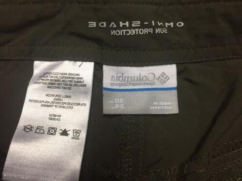 Columbia Convertible Cargo Pants Zip Off Shorts