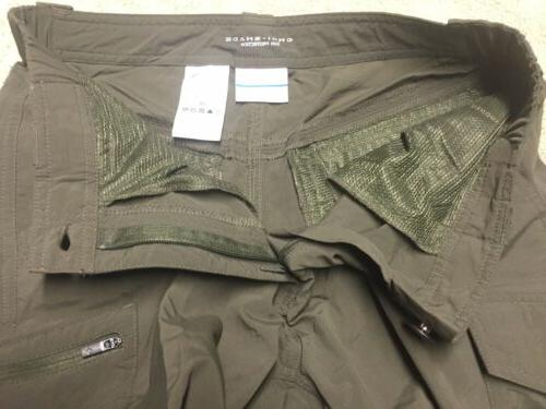 Columbia 30X34 Convertible Cargo Pants Zip Shorts Nylon Olive