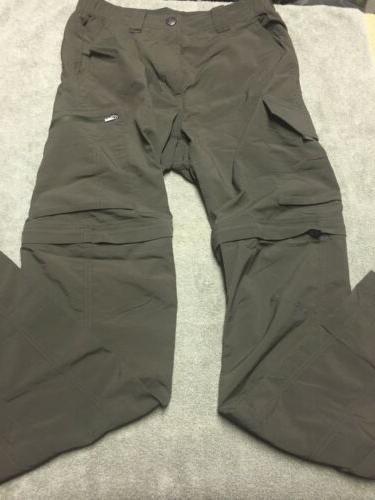 30x34 convertible hiking cargo pants zip off
