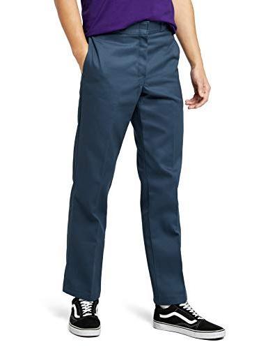 874af plain front work pant