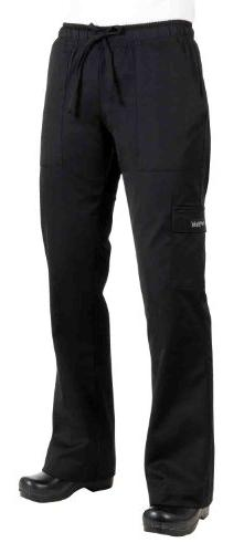Chef Works - CPWO-BLK-L - Women's Black Cargo Chef Pants
