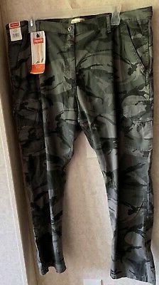 Wrangler Anthracite Camo Regular Taper Stretch Cargo Pants -