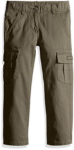 Wrangler Authentics Boys' Classic Cargo Pant, olive, 14