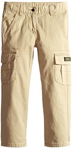 Wrangler Authentics Boys' Classic Cargo Pant, Desert, 8