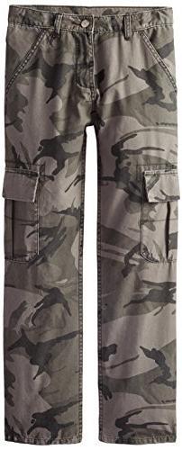 Wrangler Authentics Boys' Classic Cargo Pant, Anthracite C