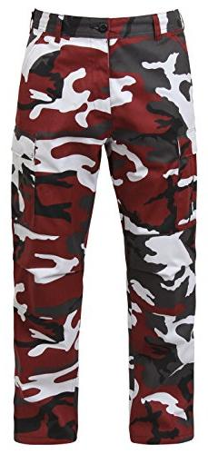 Men's B.D.U. Ultra Force Pants by Rothco in Red Camo, Small