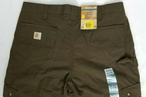 Carhartt Fit Ripstop Work Pants. Mens 36 x Dark Coffee