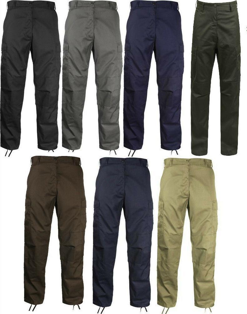 bdu cargo pants military fatigue solid color
