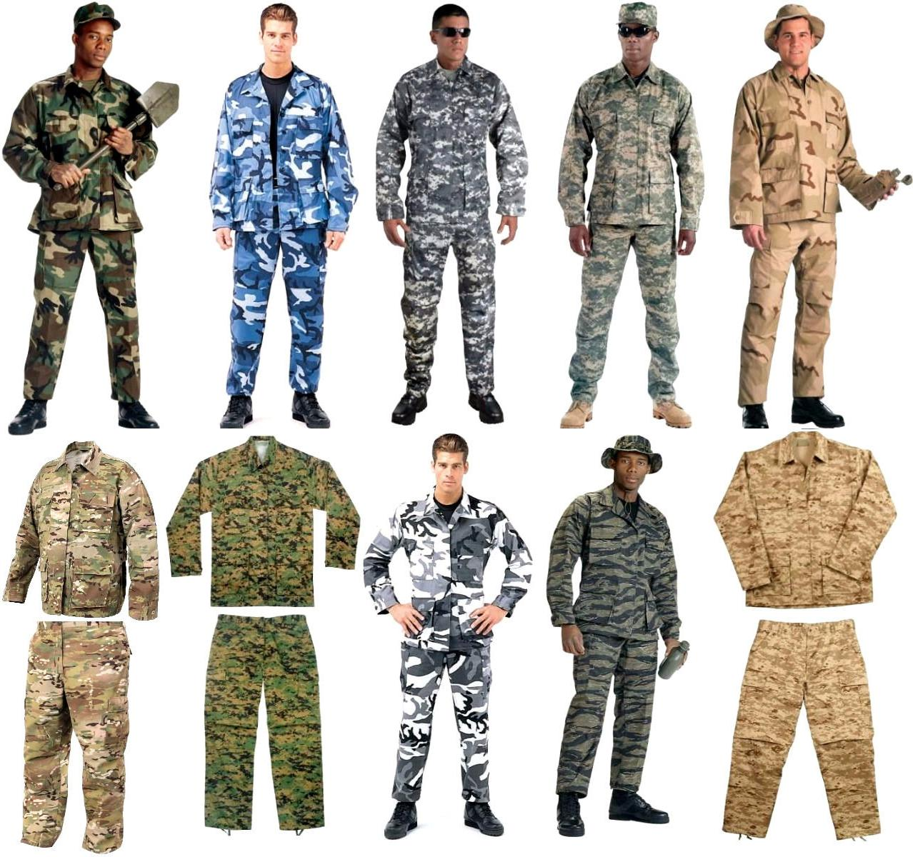 BDU Cargo Pants OR Shirt Camouflage Tactical Military Combat