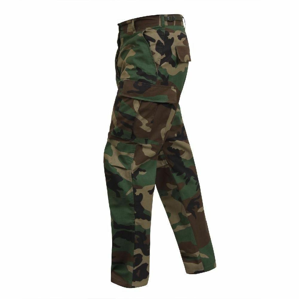 bdu cargo pants woodland camo military fatigue