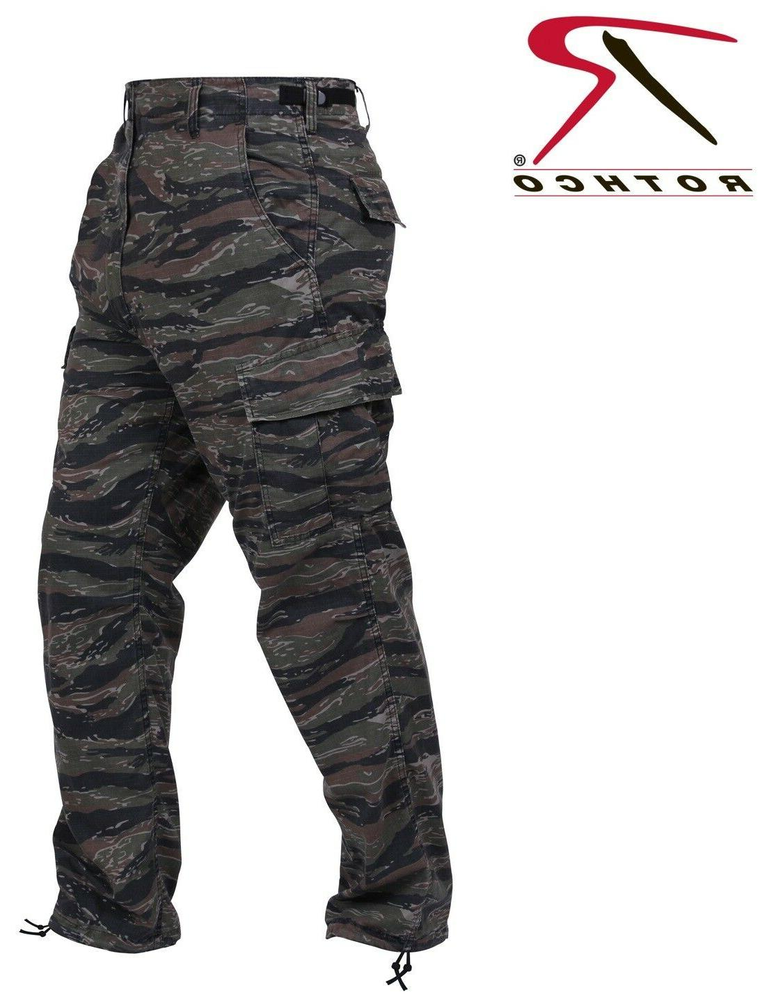 BDU pants military style tiger stripe camo cargo trousers Po