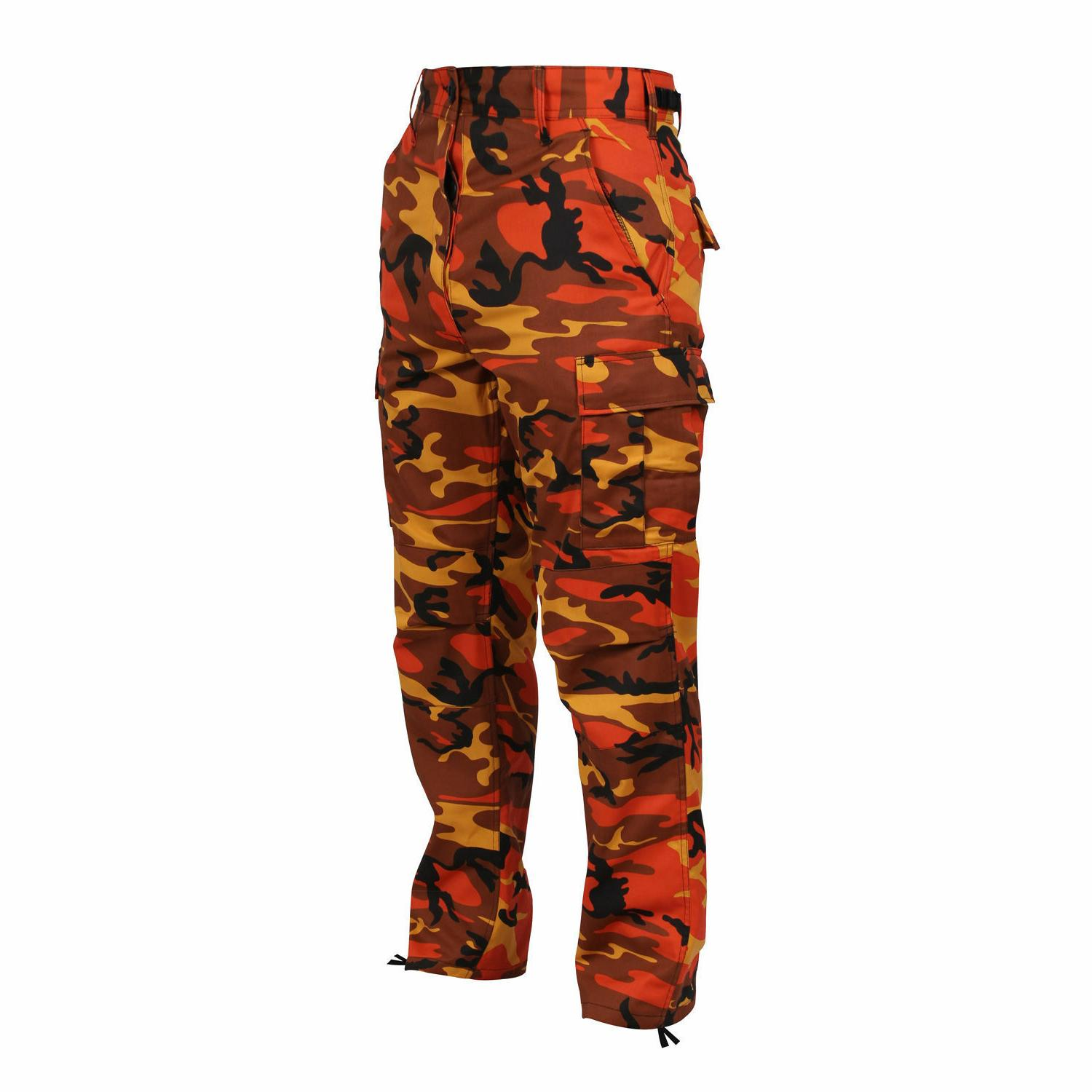BDU Pants Savage Orange Camo Military Cargo Fatigue  Rothco
