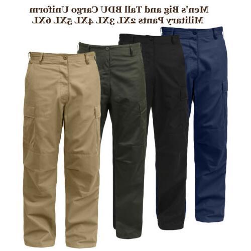 Big and Tall 3XL 4XL 5XL 6XL BDU Mens Cargo Uniform Tactical