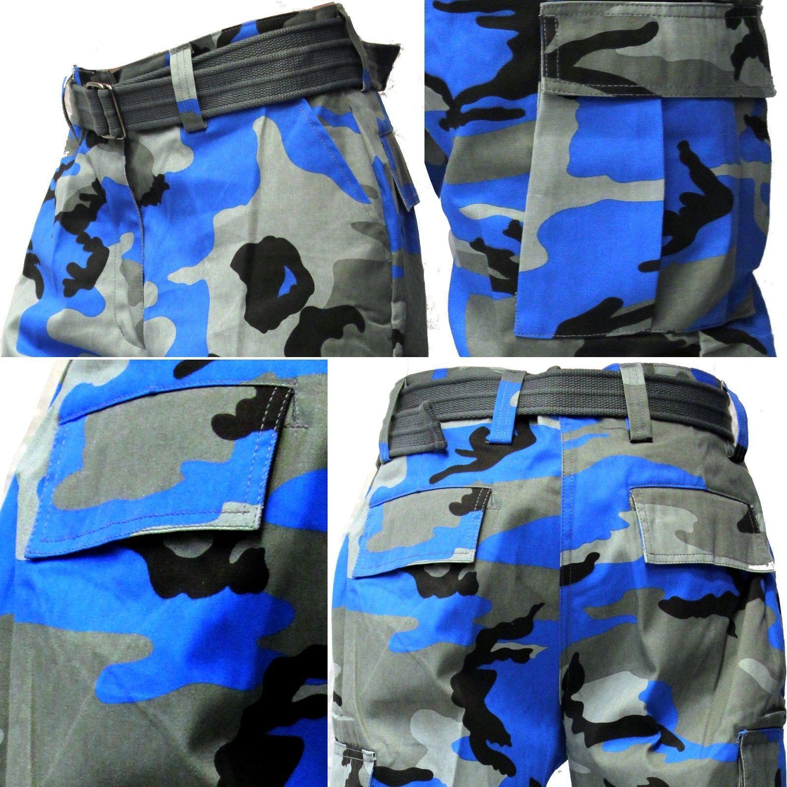 MEN ARMY CAMOFLAUGE CAMO CARGO PANTS