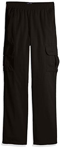 The Children's Place Big Boys' Pull-On Cargo Pant, Black, 16
