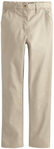 Eddie Bauer Big Boys Twill Straight Leg Pant, Khaki,16