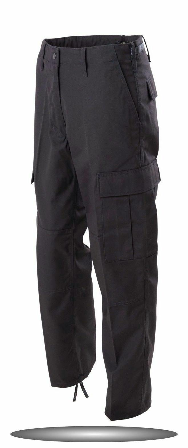 BLACK BDU PANTS MILITARY STYLE PANTS ARMY NAVY SWAT CARGO SI
