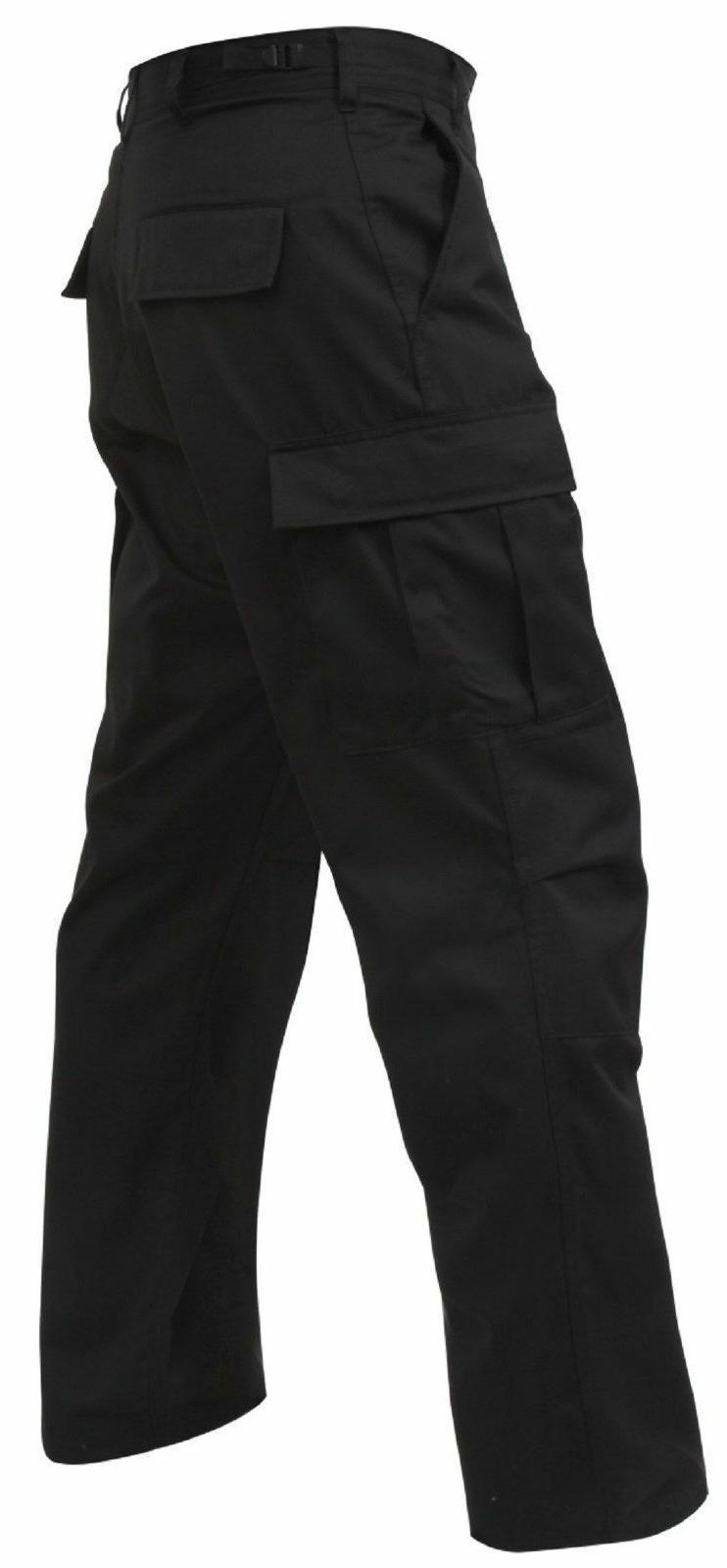 black mens 5923 bdu pants 100 percent