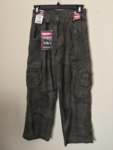 boys cargo camoflage pants w adj waist