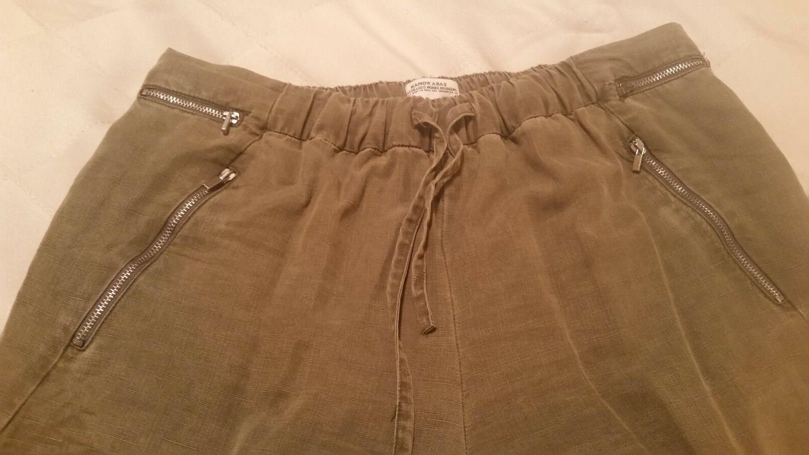 Zara cotton cargo waist and size
