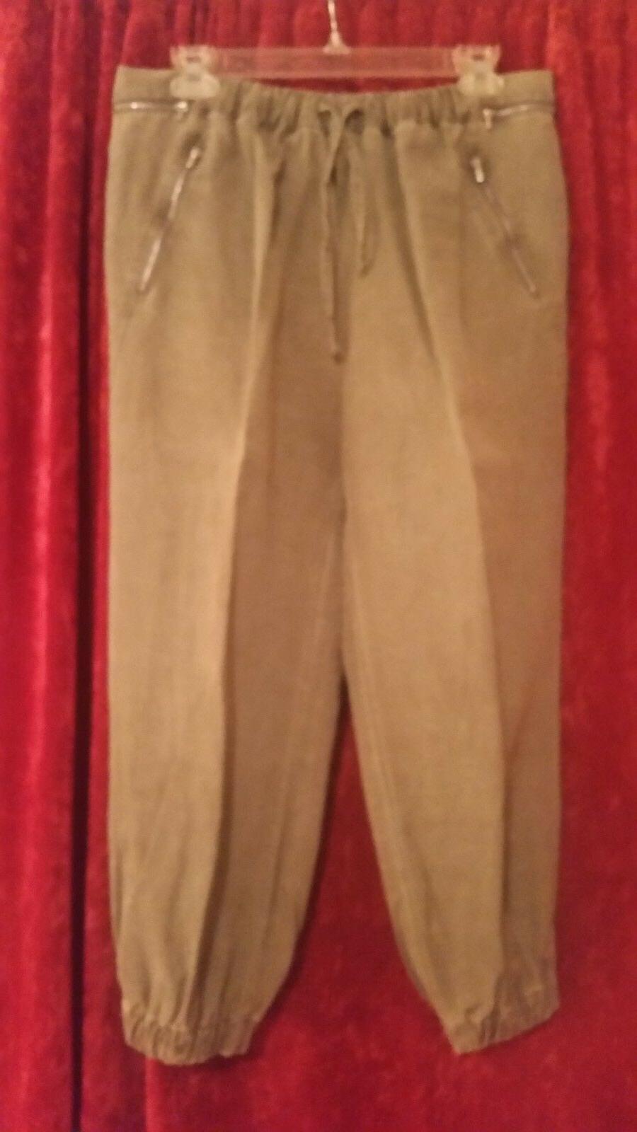 Zara brushed cargo tie waist and size L