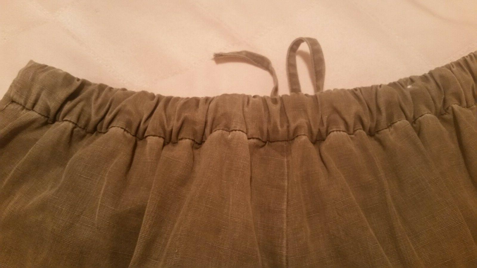 Zara cotton cargo pants tie size