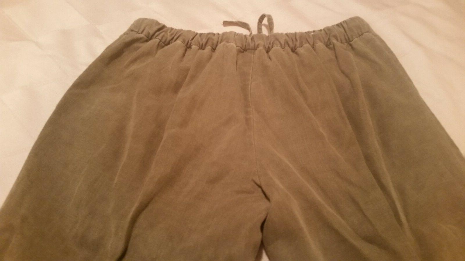 Zara cotton cargo waist and elastic ankle
