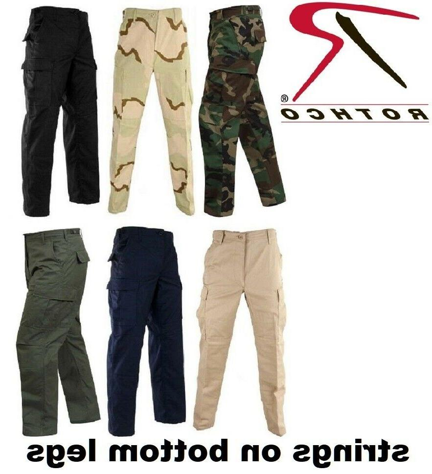Camo Solid 6-Pocket Military Tactical Rip-Stop Cargo Pants R