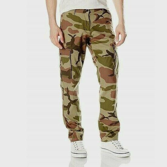 Dockers Cargo Pants Broken In Athletic Fit Stretch Olive Cam