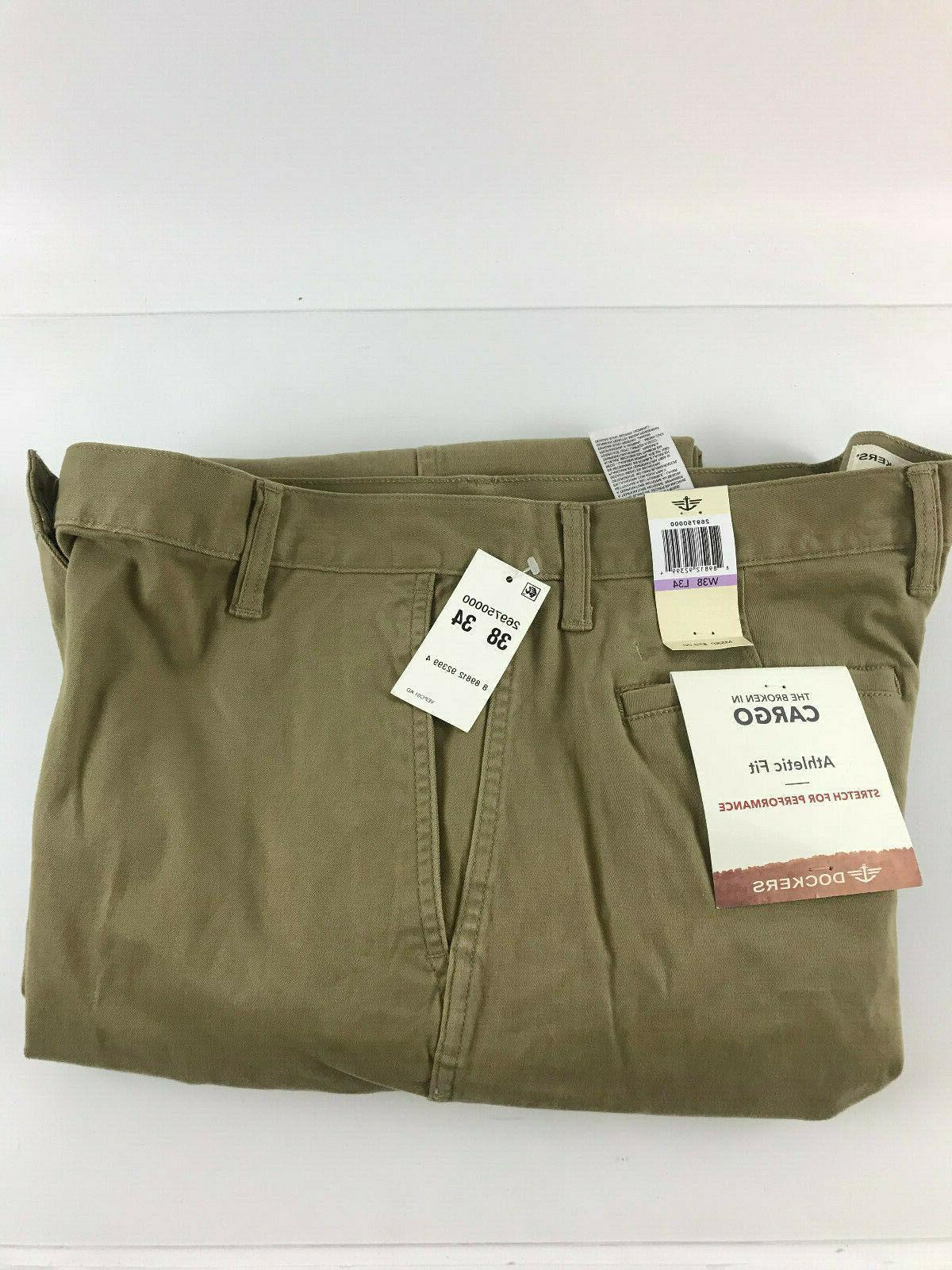 cargo pants khakis 38x34 athletic fit