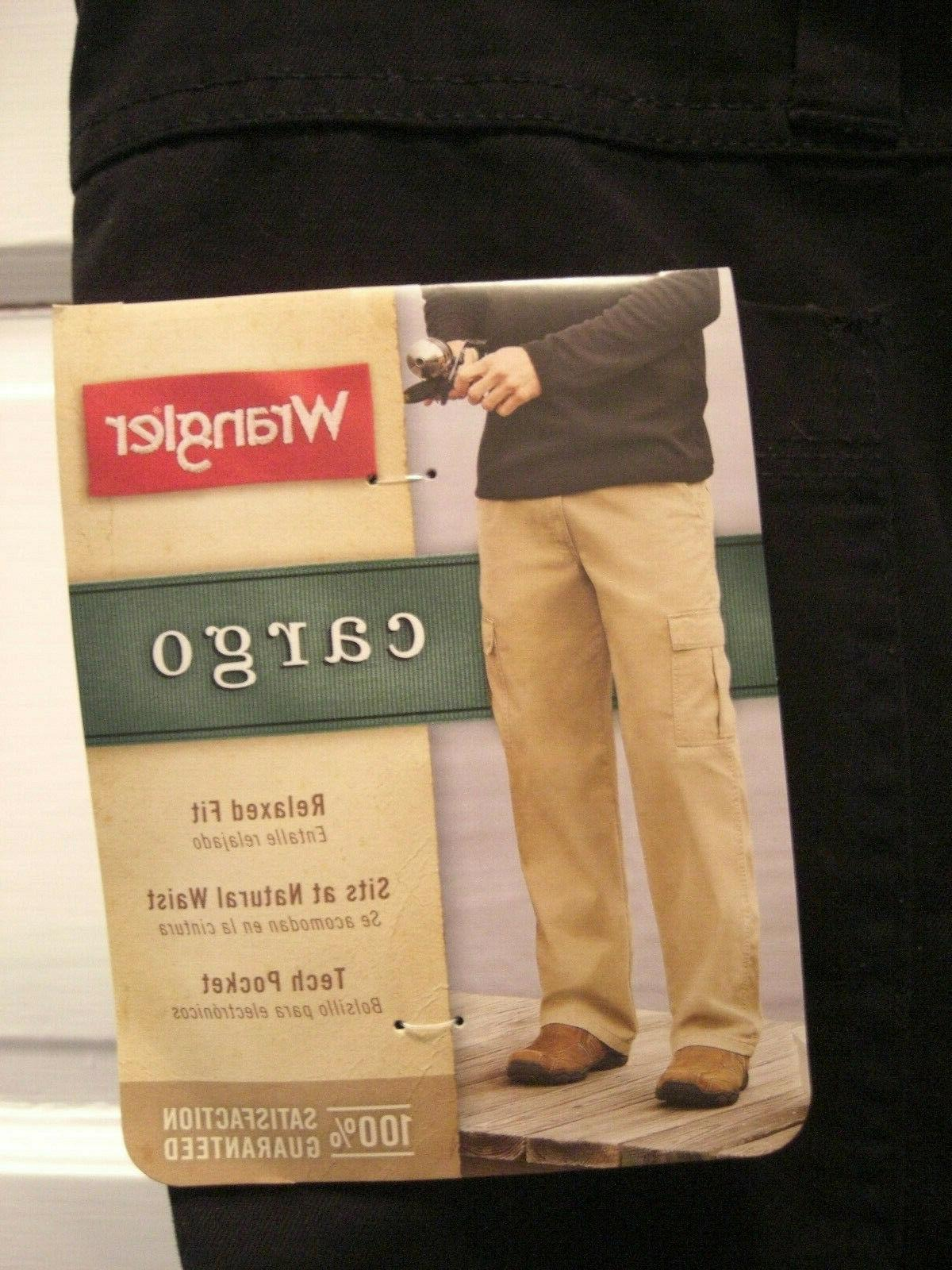 Wrangler Cargo Pants Relaxed Fit at Natural Waist Pocket 100% Cotton