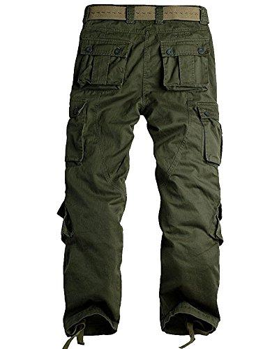 Jessie Military Pockets Wild Tactical Trousers,7533 Green,36