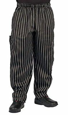Chalk Stripe Cargo Style Chef Pant, M