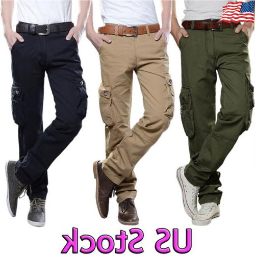 combat mens cotton cargo army military solid