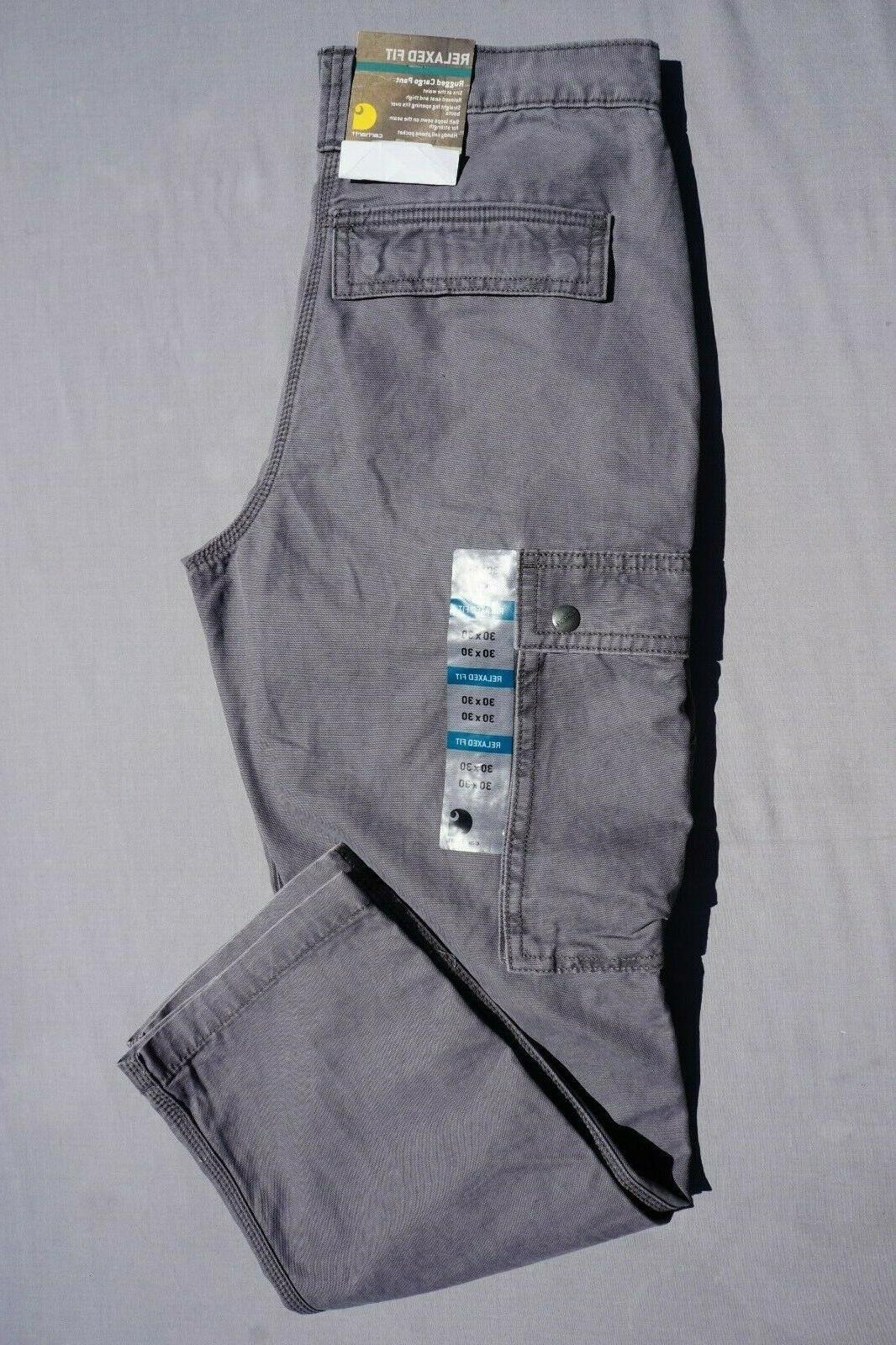 Carhartt Cargo Pant'. Gray, 30X30. NWT,