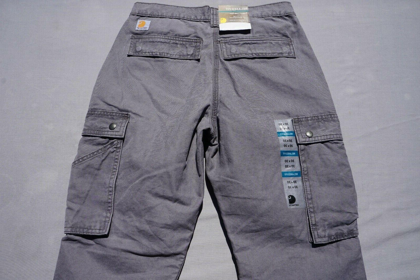 Carhartt Cotton 'Rugged Cargo Pant'. Gray, 30X30.