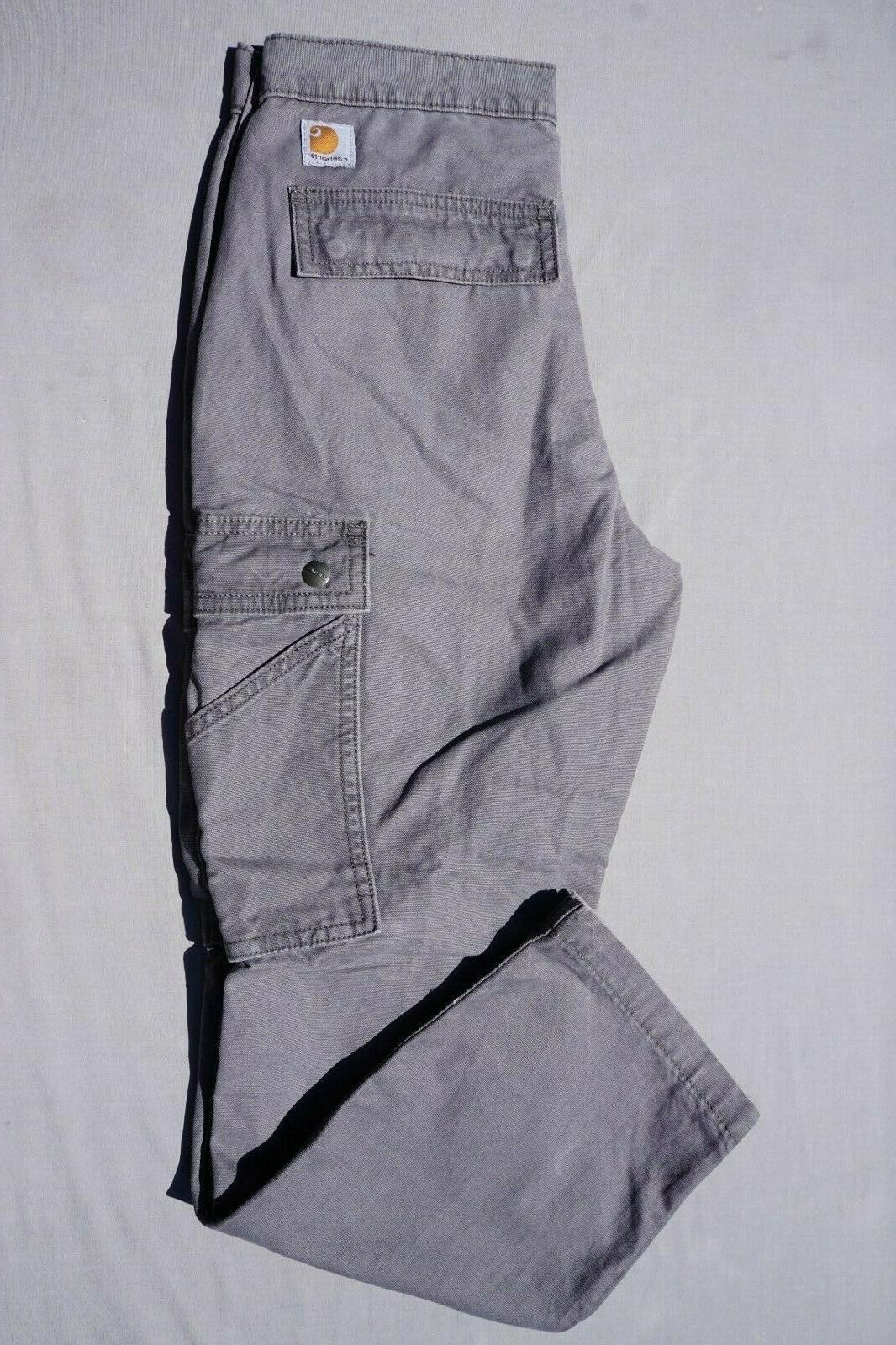 cotton canvas rugged cargo pant gray men