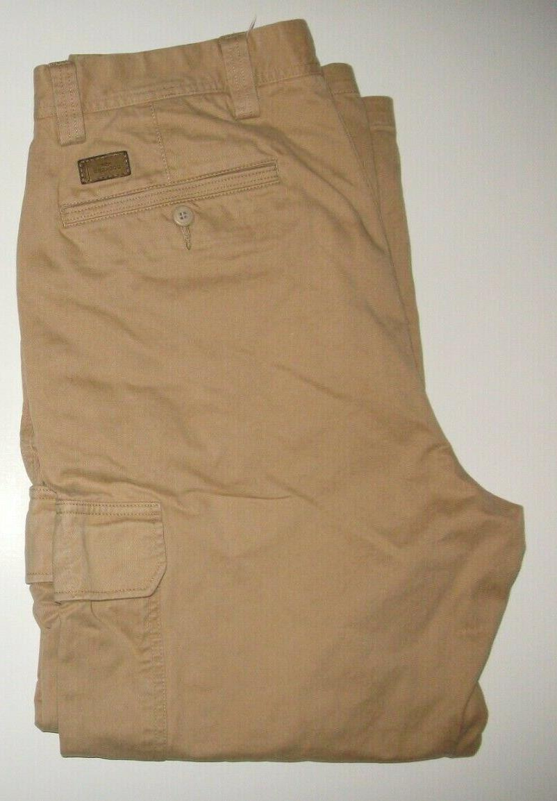 cotton relaxed fit cargo pants size 36x30
