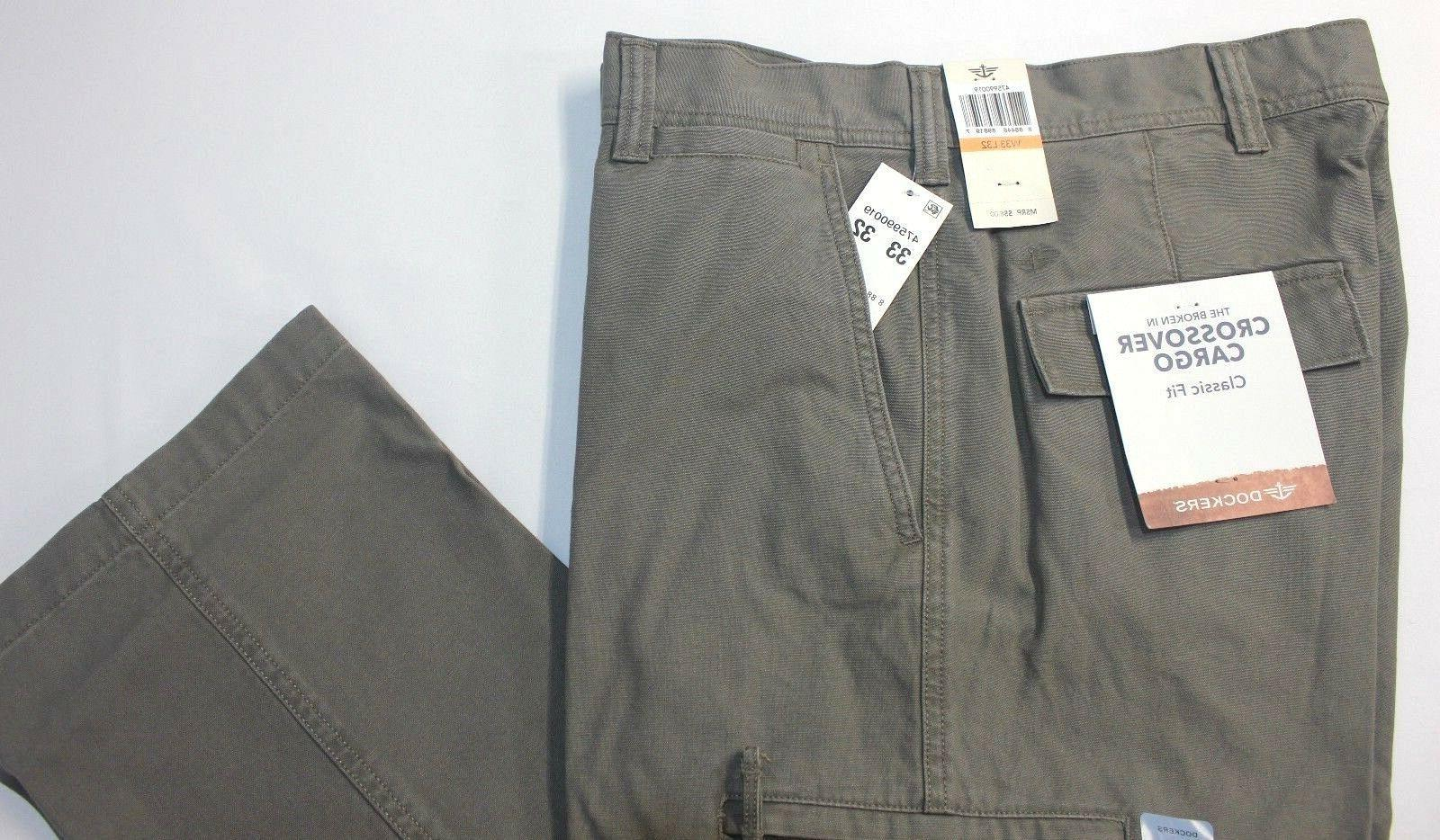 Dockers Crossover D3 Classic-Fit Concrete Flat-Front