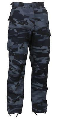 Dark Blue Camouflage Military BDU Cargo Bottoms Fatigue Trou