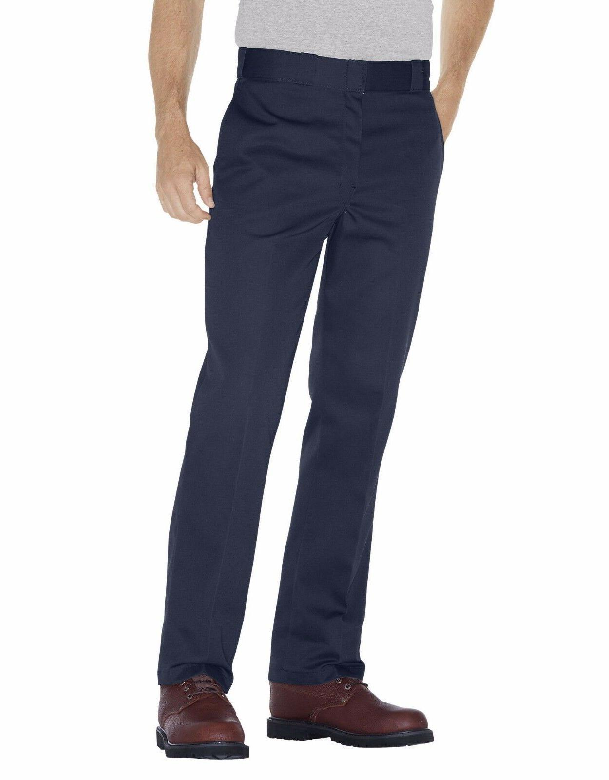 dickes men s navy blue work pants