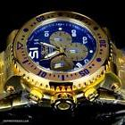 Invicta Pro Diver Combat Seal Gold Plated Steel Blue Chronog