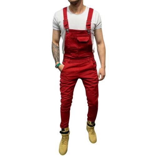 Fashion Men's Jeans Slim Suspender