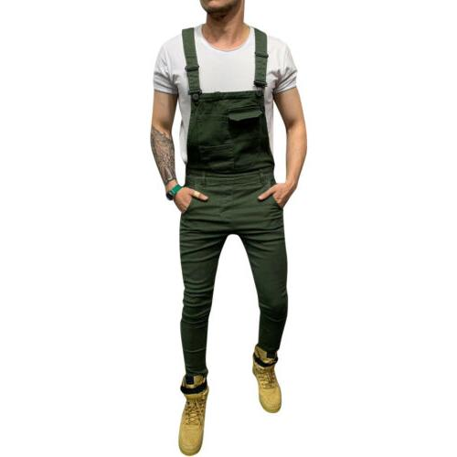 Fashion Slim Suspender Overalls