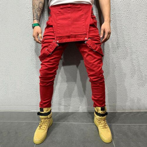 Fashion Jeans Denim Slim Pants Bib